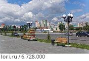 Челябинск, набережная реки Миасс (2014 год). Редакционное фото, фотограф Алексей Кирюшкин / Фотобанк Лори