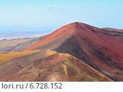 Купить «Армения, потухшие вулканы. Сквозь дымку проглядывает вершина горы Арарат», фото № 6728152, снято 12 сентября 2014 г. (c) Овчинникова Ирина / Фотобанк Лори