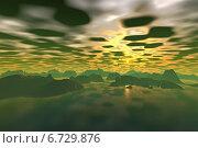 Купить «Чужая планета. Скалы и рассвет», иллюстрация № 6729876 (c) Parmenov Pavel / Фотобанк Лори