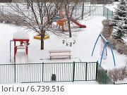 Детская площадка. Зима. Стоковое фото, фотограф Светлана Давыдова / Фотобанк Лори