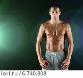Купить «young male bodybuilder with bare muscular torso», фото № 6740808, снято 22 сентября 2014 г. (c) Syda Productions / Фотобанк Лори