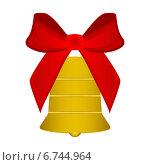 Купить «Рождественский колокольчик с красной лентой», иллюстрация № 6744964 (c) Мастепанов Павел / Фотобанк Лори