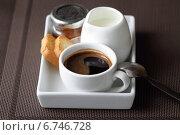 Купить «Кофе и тосты», фото № 6746728, снято 1 июня 2013 г. (c) Елена Корнеева / Фотобанк Лори