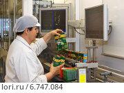 Купить «Berlin, Germany, Associate checked various finished coffee packs in the Kraft Foods plant in Berlin-Neukoelln», фото № 6747084, снято 7 апреля 2011 г. (c) Caro Photoagency / Фотобанк Лори