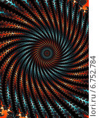 Купить «Декоративный фрактальная спираль в тёмных тонах», иллюстрация № 6752784 (c) Astronira / Фотобанк Лори