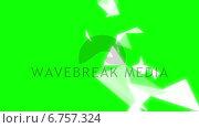 Купить «Geometric shapes on green background», видеоролик № 6757324, снято 19 сентября 2018 г. (c) Wavebreak Media / Фотобанк Лори