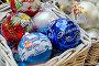 Купить «Корзинка с новогодними елочными шарами», эксклюзивное фото № 6759244, снято 4 декабря 2014 г. (c) Елена Коромыслова / Фотобанк Лори