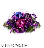 Купить «Christmas ball decoration», фото № 6762916, снято 21 июня 2011 г. (c) Natalja Stotika / Фотобанк Лори