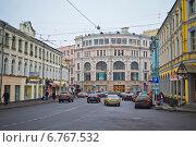 Москва, улица Мясницкая. Виды города (2014 год). Редакционное фото, фотограф Василий Аксюченко / Фотобанк Лори