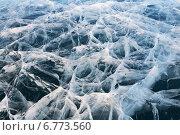 Купить «Байкал. Ледовый  рисунок переплетения трещин. Природный фон, текстура», фото № 6773560, снято 8 марта 2010 г. (c) Виктория Катьянова / Фотобанк Лори