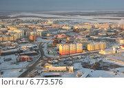 Купить «Город Нарьян-Мар , вид сверху на центральную часть», фото № 6773576, снято 27 октября 2013 г. (c) Елена Боброва / Фотобанк Лори