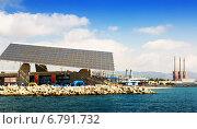 Купить «Photovoltaic plate at Forum area and power plant in Barcelona», фото № 6791732, снято 6 июля 2014 г. (c) Яков Филимонов / Фотобанк Лори