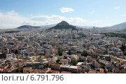 Холм Ликабетт или Ликавитос. Вид с Акрополя (2014 год). Стоковое фото, фотограф Chutniza / Фотобанк Лори