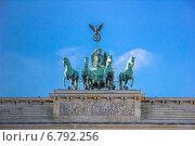 Бранденбургские ворота (2014 год). Стоковое фото, фотограф Евгений Питомец / Фотобанк Лори
