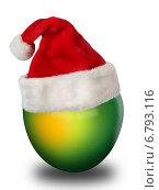Новогоднее яблоко. Стоковая иллюстрация, иллюстратор Светлана Шаповалова / Фотобанк Лори
