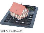 house on calculator. Стоковое фото, фотограф Erwin Wodicka / Фотобанк Лори