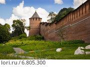 Купить «Борисоглебская башня Нижегородского кремля», фото № 6805300, снято 6 августа 2014 г. (c) Александр Романов / Фотобанк Лори