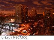 Купить «Район Гольяново поздней ночью зимой», эксклюзивное фото № 6807000, снято 15 декабря 2014 г. (c) lana1501 / Фотобанк Лори