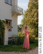 Дама с зонтиком. Стоковое фото, фотограф Дмитрий Ильин / Фотобанк Лори