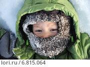 Портрет мальчика в зимнем капоре. Стоковое фото, фотограф Айнур Шауэрман / Фотобанк Лори