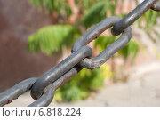 Фрагмент металлической цепи. Стоковое фото, фотограф VahanN / Фотобанк Лори