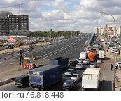 Новая развязка на Новорязанском шоссе (2014 год). Редакционное фото, фотограф Владислав Чеканин / Фотобанк Лори