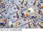Купить «Банкноты номиналом 100 долларов США нового образца. Фон из 100-долларовых купюр», эксклюзивное фото № 6820048, снято 20 декабря 2014 г. (c) Александр Тарасенков / Фотобанк Лори