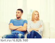 Купить «unhappy couple having argument at home», фото № 6826160, снято 9 февраля 2014 г. (c) Syda Productions / Фотобанк Лори