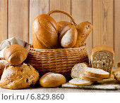 Купить «Different types of bread .», фото № 6829860, снято 8 декабря 2014 г. (c) Tatjana Baibakova / Фотобанк Лори