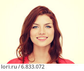 Купить «smiling teenage girl in casual clothes», фото № 6833072, снято 4 мая 2014 г. (c) Syda Productions / Фотобанк Лори