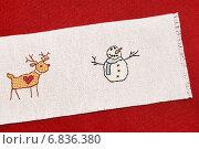 Олень и снеговик, вышивка крестиком. Стоковое фото, фотограф Dmitry29 / Фотобанк Лори
