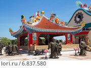 Таиланд. Китайский храм в Паттайе (2014 год). Редакционное фото, фотограф Галина Савина / Фотобанк Лори