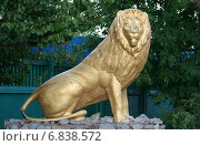 Купить «Скульптура льва. Парковая скульптура», эксклюзивное фото № 6838572, снято 12 августа 2012 г. (c) Щеголева Ольга / Фотобанк Лори