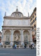 Купить «Рим, площадь Сан Бернардо, фонтан Моисея», фото № 6840816, снято 17 марта 2013 г. (c) Овчинникова Ирина / Фотобанк Лори