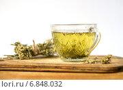 Липовый чай с кукурузными рыльцами. Стоковое фото, фотограф Daodazin / Фотобанк Лори