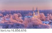 Купить «Морозное утро в Подмосковье», фото № 6856616, снято 31 декабря 2014 г. (c) Алексей Назаров / Фотобанк Лори