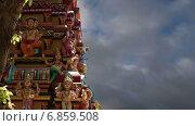 Купить «Традиционный индуистский храм, Южная Индия, Керала», видеоролик № 6859508, снято 3 января 2015 г. (c) Владимир Журавлев / Фотобанк Лори