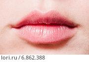 Женские губы. Стоковое фото, фотограф Валерия Лузина / Фотобанк Лори