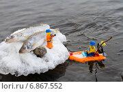 Купить «Зимняя лего-рыбалка на Ангаре», фото № 6867552, снято 6 января 2015 г. (c) Ален Лагута / Фотобанк Лори