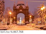 Купить «Триумфальная Александровская арка. Краснодар, зима», эксклюзивное фото № 6867768, снято 7 января 2015 г. (c) Алексей Букреев / Фотобанк Лори