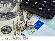 Натюрморт на валютную тему. Стоковое фото, фотограф Сергей Прокопенко / Фотобанк Лори