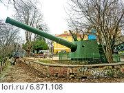 Корабельная пушка во дворе музея (2014 год). Редакционное фото, фотограф Кононенко Александр / Фотобанк Лори