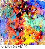 Купить «Разноцветный фон с мазками гуаши», иллюстрация № 6874144 (c) Анна Павлова / Фотобанк Лори