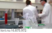 Купить «Scientists working on experiments together», видеоролик № 6875972, снято 5 апреля 2020 г. (c) Wavebreak Media / Фотобанк Лори