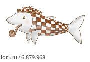 Рыба Холмс. Стоковая иллюстрация, иллюстратор Виталий Кучинский / Фотобанк Лори