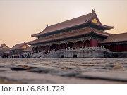 Купить «Запретный город. Пекин, Китай», фото № 6881728, снято 3 января 2015 г. (c) Liseykina / Фотобанк Лори