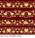 Купить «Бесшовные ленты с сердечками», иллюстрация № 6883312 (c) Николай Забурдаев / Фотобанк Лори
