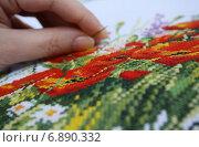Вышивка крестиком. Стоковое фото, фотограф Мельникова Надежда / Фотобанк Лори