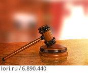 Купить «Judicial 3d gavel», фото № 6890440, снято 23 июля 2019 г. (c) Лукиянова Наталья / Фотобанк Лори