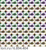 Купить «Бесшовный узор с рыбками», иллюстрация № 6894404 (c) Astronira / Фотобанк Лори